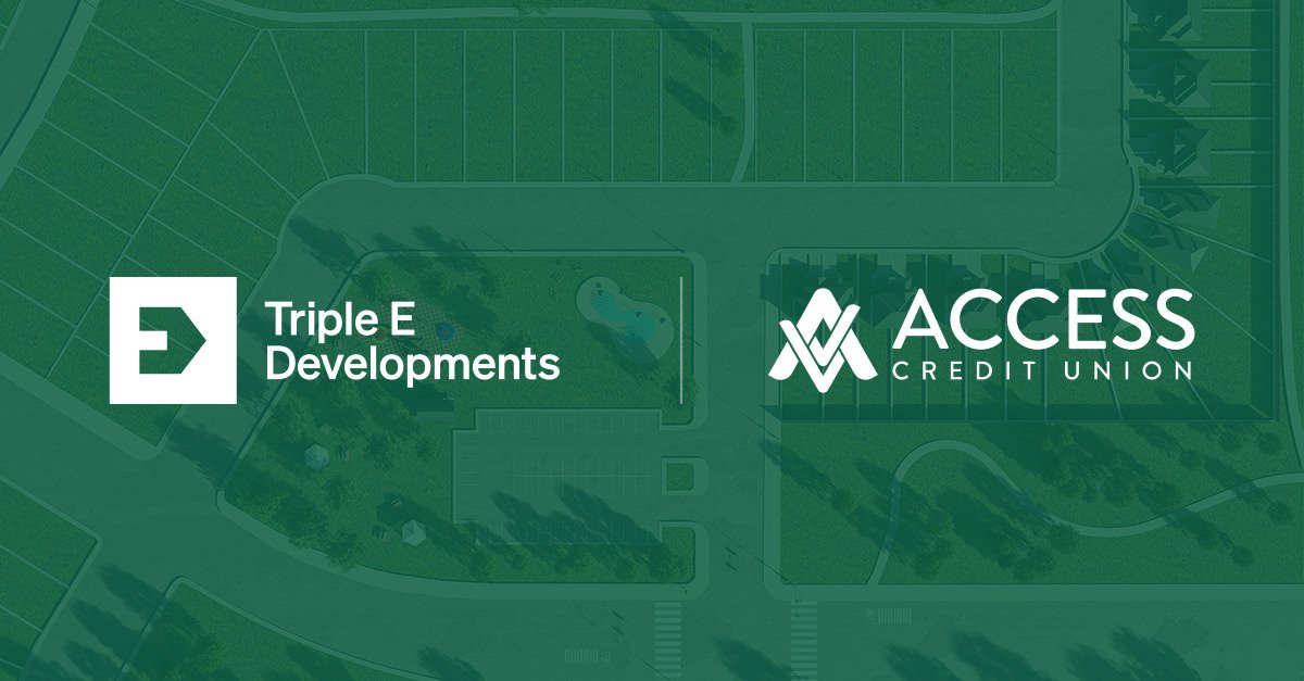 Triple E Developments and Access Credit Union logos